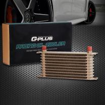 Gplus Universal Engine 10 Row AN-10AN Aluminum Transmission Oil Cooler GD