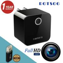 (Upgraded) Hidden Wall Camera, DOTSOG USB Charger WiFi Camera, Night Vision Detection, Motion Detector - 1080P HD Nanny Cam/Security Camera for Home Office