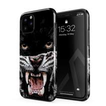BURGA Phone Case Compatible with iPhone 11 PRO MAX - Lethal Hunter Savage Wild Panther Vs Tiger Cute Case for Girls Heavy Duty Shockproof Dual Layer Hard Shell + Silicone Protective Cover