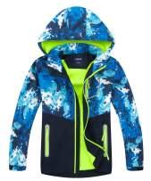 Hiheart Boys Girls Hooded Jackets Color Block Outdoor Windbreaker