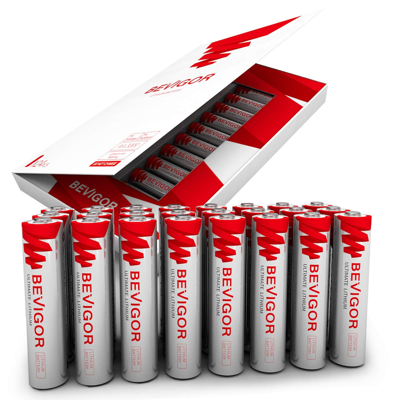 Bevigor AAA Lithium Batteries, 24Pack Ultimate Lithium Triple A Batteries, 1.5V 1100mAh Longer Lasting AAA Batteries for Flashlight, Toys, Remote Control, Non-Rechargeable