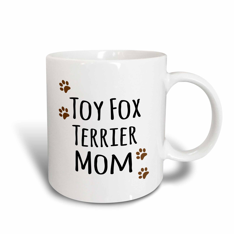 3dRose Toy Fox Terrier Dog Mom Mug, 15 oz, Ceramic