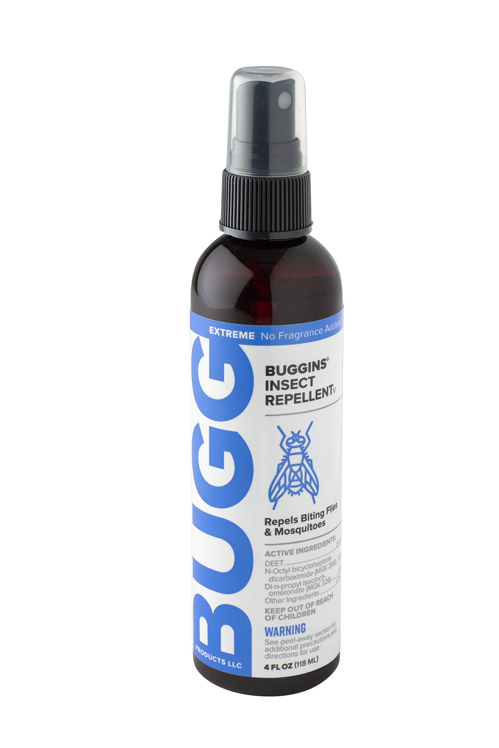 BUGGINS V Extreme Insect Repellent 25% DEET plus 2x Fly repellents NO FRAGRANCE ADDED