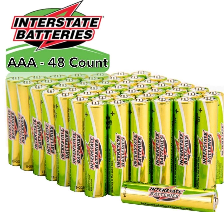 Interstate Batteries AAA Alkaline Battery 48 Pack - Workaholic (DRY7002)…