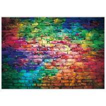 Allenjoy 7x5ft Colorful Brick Wall Backdrop for Awesome 80's Hip Hop Disco Birthday Wedding Graduation Themed Party Product Portrait Video Photography Fashion Decor Background Studio Photo Booth