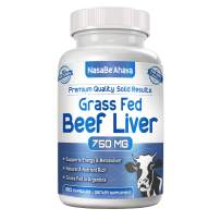 NASA Beahava Grass Fed Beef Liver (Desiccated) - 180 Capsules - Argentine Pasture-Raised Beef Liver Pills - 3000mg Supplement Powder Per Serving - Natural Iron, B12, Vitamin A for Energy - Non-GMO