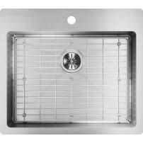 Elkay Crosstown ECTSRAD25226TBG1 Single Bowl Dual Mount Stainless Steel ADA Sink Kit