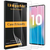 [3 Pack] UniqueMe Screen Protector for Samsung Galaxy Note 10,[Fingerprint Available][Flexible Film][Bubble-Free] TPU Film with Lifetime Replacement Warranty