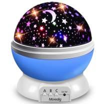 Moredig Starry Ceiling Night Light Projector,360 Degree Rotating Light Projector with 8 Color Light Change for Kids Baby - Blue Night Light