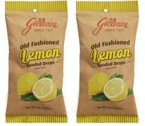 Gilliam Old Fashioned Candy Flavored Sanded Lemon Drops Pack of 2 (4.5 oz. Bag) (Lemon)
