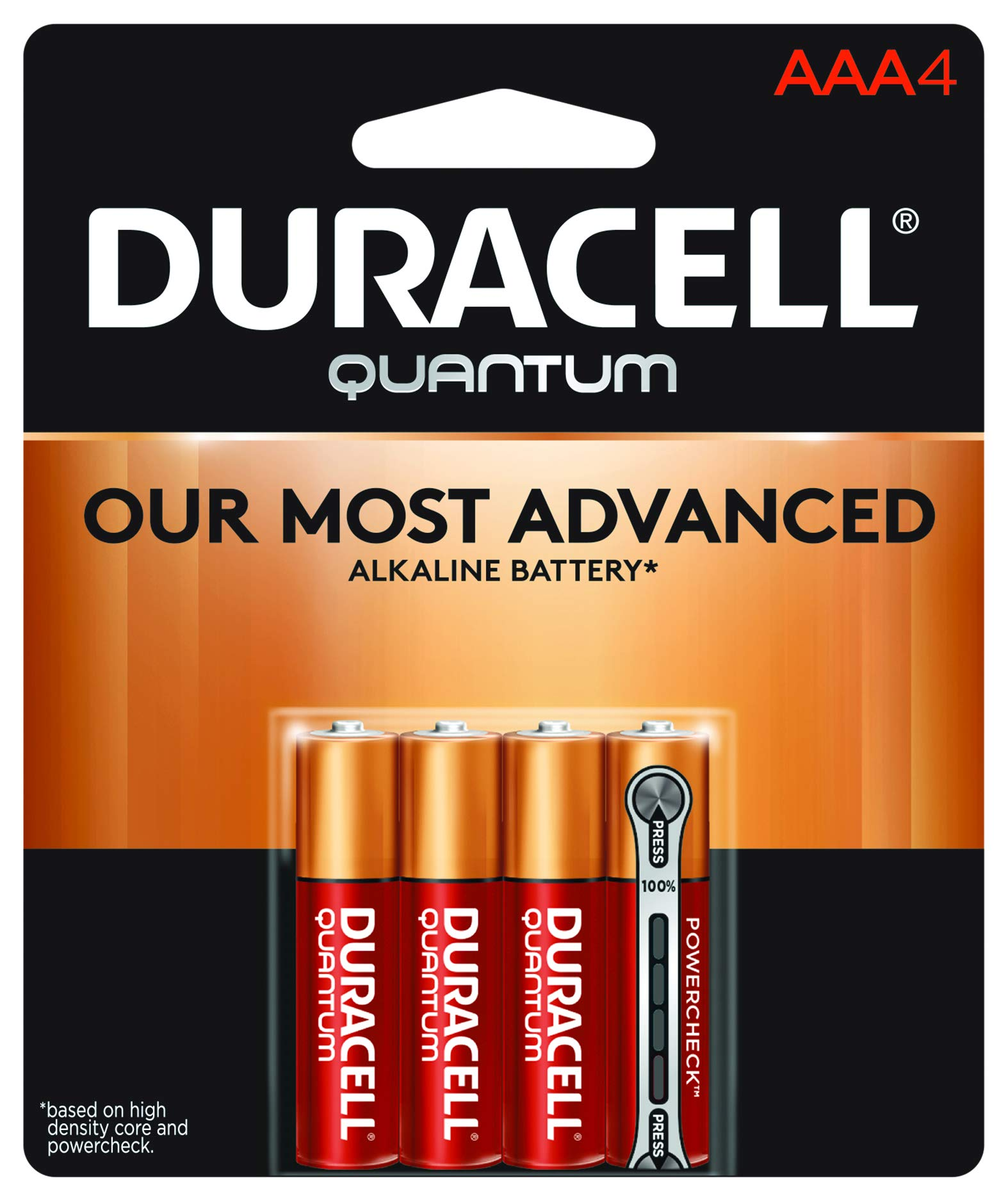 Duracell - Quantum AAA Alkaline Batteries - long lasting, all-purpose Triple A battery for household and business - 4 count