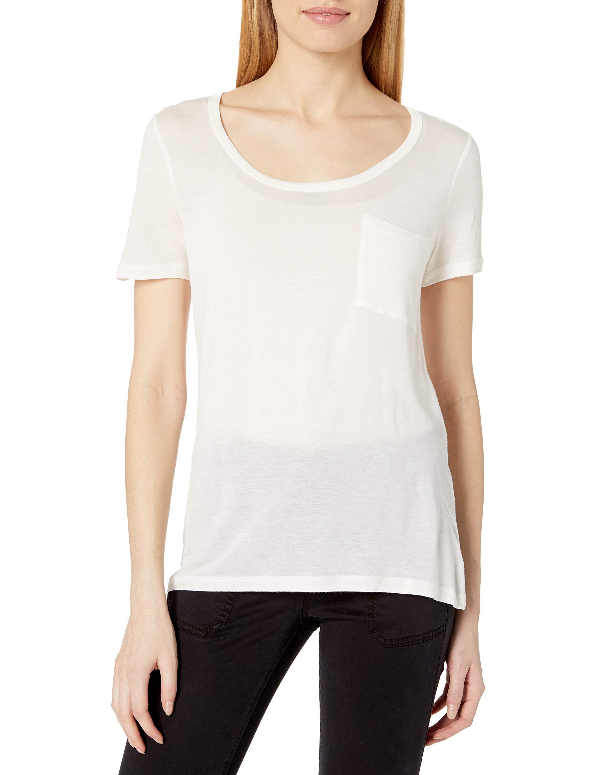 Amazon Brand - Daily Ritual Women's Super Soft Modal Semi-Sheer Pocket T-Shirt
