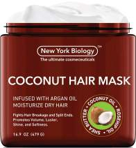 Coconut Hair Mask for Hair Growth and Volume - Infused with Argan Oil - Moisturizing and Deep Conditioning Dry Hair Treatment - Fights Breakages and Split Ends – Helps Restore Damaged Hair - 16 Oz