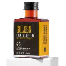 Strongwater Golden Cocktail Bitters (3 Fl Oz) Old Fashioned Aromatic Bitters Made with Organic Turmeric, Cinnamon & Cardamom - Pair with Whiskey, Bourbon, Tea, or Coffee