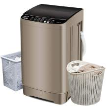 Full-Automatic Washing Machine 2.1Cu.ft/ 15.4lbs Krib Bling Portable Compact Laundry Washer with Drain Pump, 10 Wash Programs 4 Water Levels with LED Display