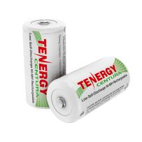 Tenergy Centura NiMH Rechargeable C Batteries, 4000mAh C Battery, Low Self Discharge C Cell Battery, Pre-Charged C Size Battery, 2 Pcs