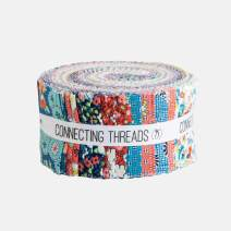 "Connecting Threads Print Collection Precut Cotton Quilting Fabric Bundle 2.5"" Strips (Annie's Apron)"