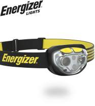 Energizer VISION LED Headlamp Flashlight, 400 High Lumens, IPX4 Water Resistant, Multiple Modes, Best Headlight for Camping, Running, Outdoors, Emergency Light, Rechargeable or Battery-Powered