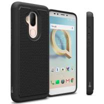 CoverON Heavy Duty Hybrid HexaGuard Series for Alcatel 7 / T-Mobile REVVL 2 Plus Case, Black