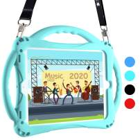 Topesct iPad 9.7 Kids Case Shockproof Handle Stand ipad toddler case with Pencil Holder, Compatible with iPad 5th Gen,iPad 6th Gen and iPad Air 1/2 and Pro 9.7, comes with adjustable strap (Turquoise)