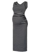 Black Cherry Women's Sleeveless/Long Sleeve Modal Maternity Knee Length Tank Dress