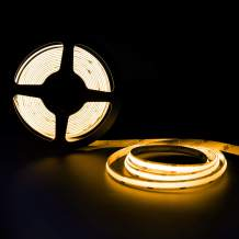 Ocona COB LED Strip Lights, UL-Listed 16.4ft 2000K/Yellow 8mm Width Ultra Bright Flexible LED Tape Lights, with RF Remote,12V/2A Power Supply for Home, Kitchen,Hotel Decoration