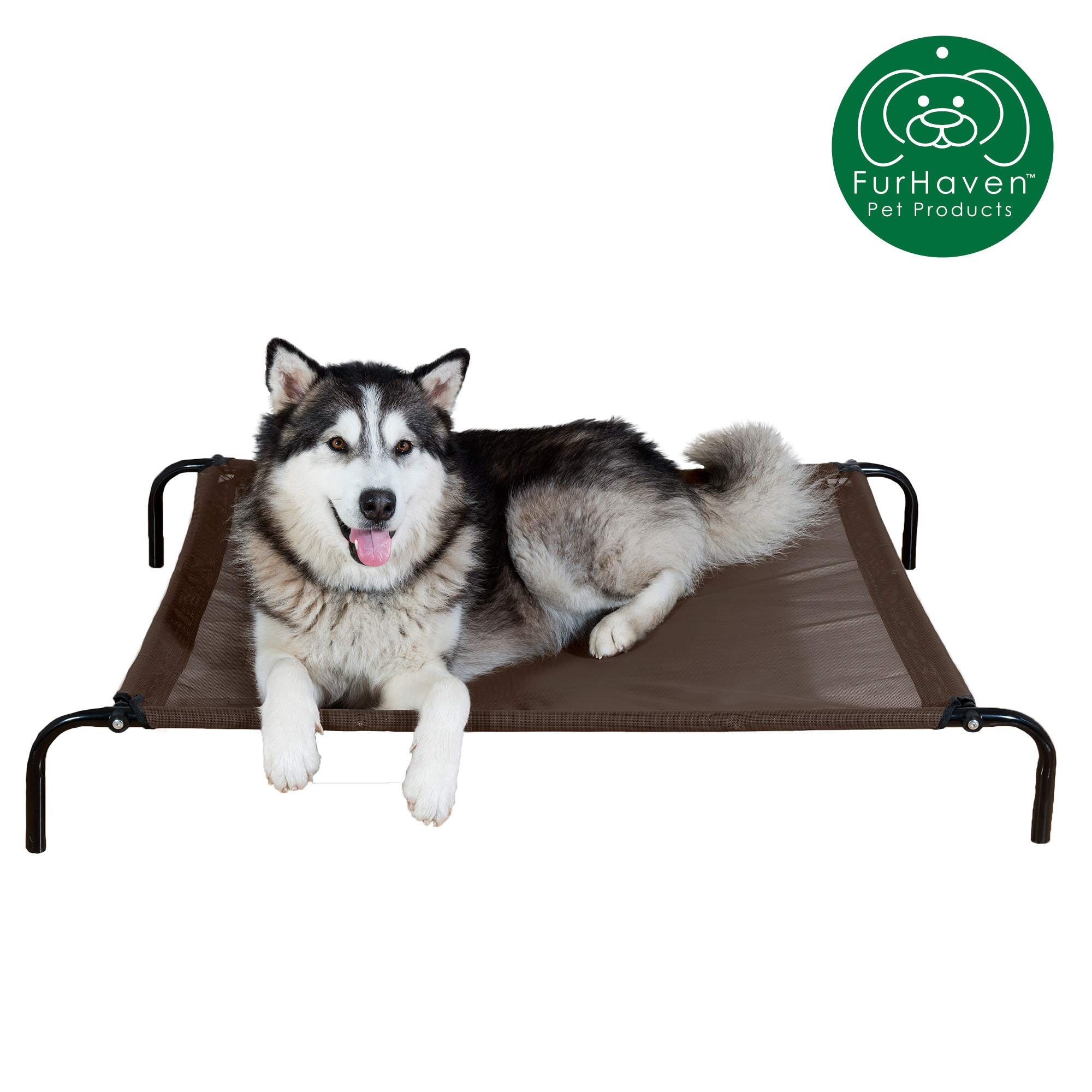 Furhaven Pet Dog Bed   Mold & Mildew Resistant Breathable Cooling Mesh Elevated Pet Cot Bed, Pet Blanket, & Self-Warming Pet Mat Insert for Dogs & Cats - Available in Multiple Colors & Sizes