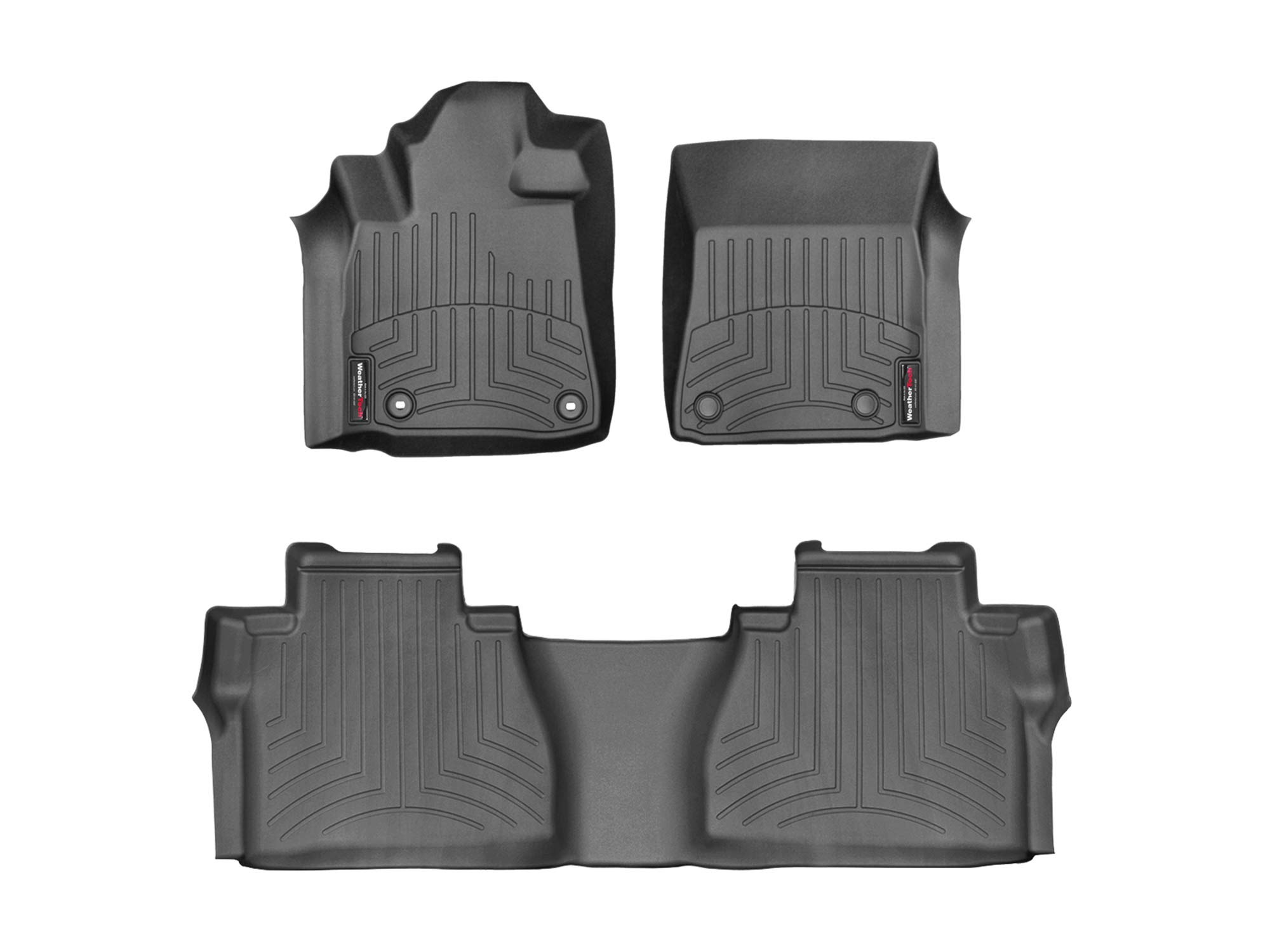 WeatherTech Custom Fit FloorLiner for Toyota Tundra - 1st & 2nd Row (Black)