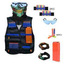 Winterworm Kids Adjustable Tactical Vest Accessories Kit for Nerf Gun N-Strike Elite Series
