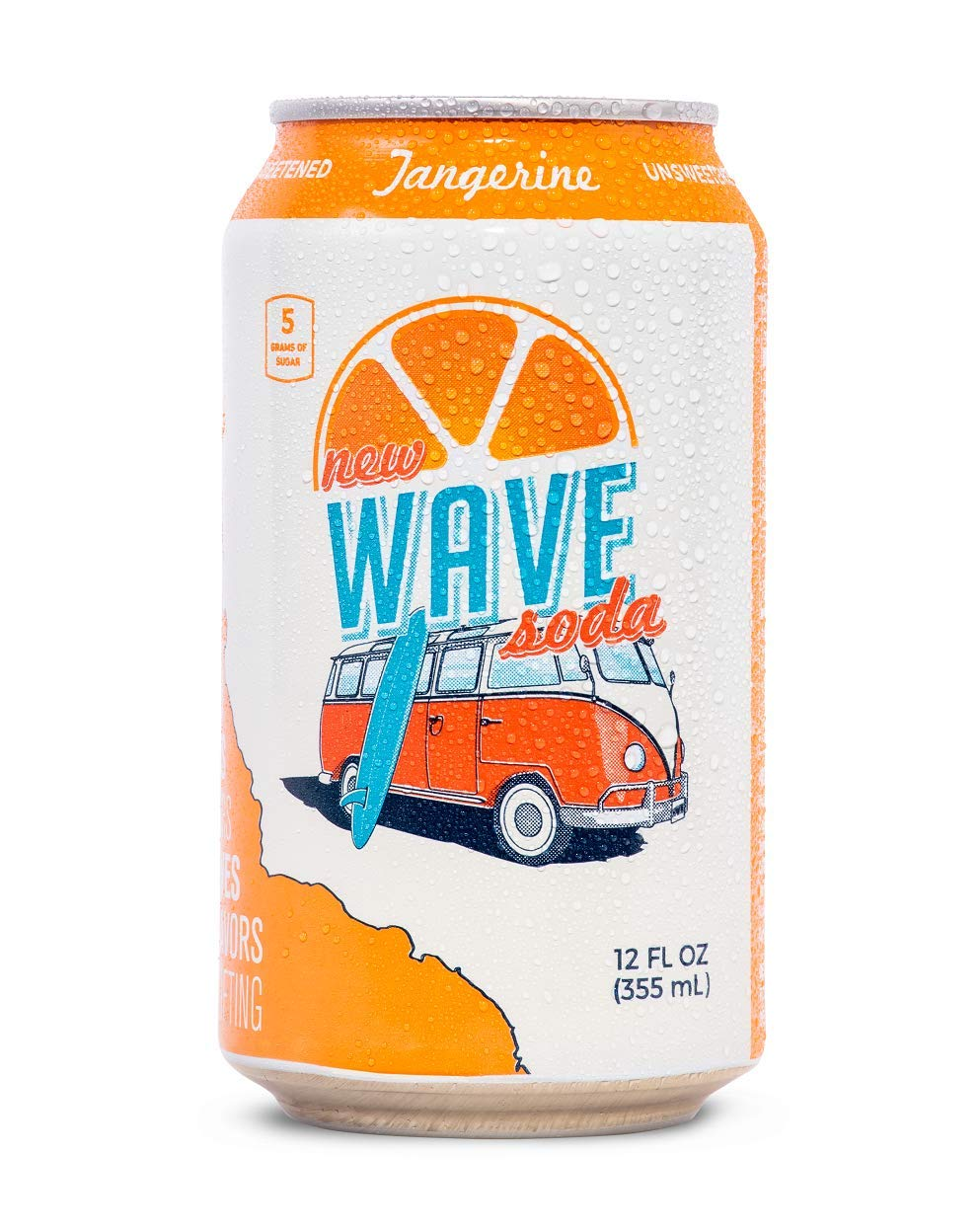 Wave Soda Sparkling Juice, Tangerine, 12 Ounce Cans (Pack of 12)