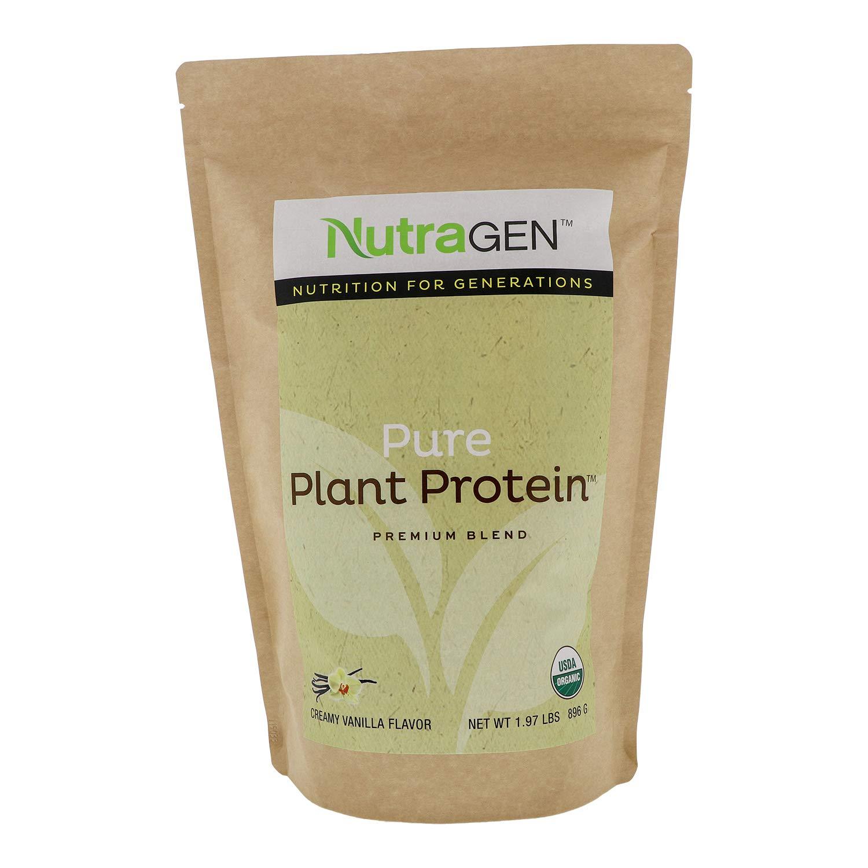 Nutragen - Pure Plant Protein, Organic Protein Powder (Vanilla, 1.97 lbs)
