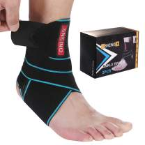 Ankle Brace for Women & Men - Ankle Brace for Women Sprained Ankle,Ankle Brace stabilizer,Adjustable Ankle Brace,Ankle Support Brace for Women, Volleyball Ankle Brace, Running Ankle Brace(2 Pack)