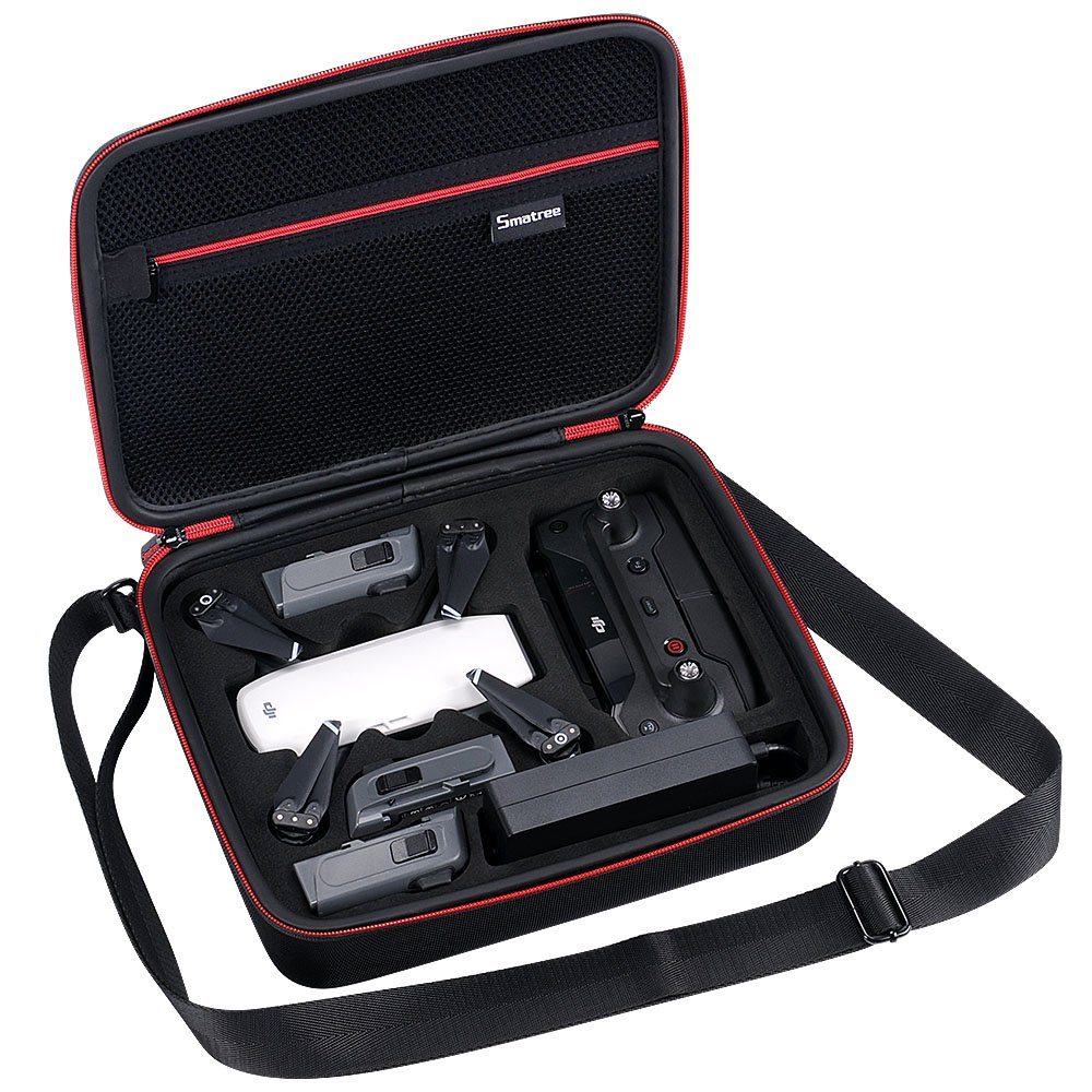 Smatree Carrying Case Compatible for DJI Spark Fly More Drone, Fit for DJI Spark Drone,3 x Spark Intelligent Flight Batteries,Battery Charger,Remote Controller and Accessories