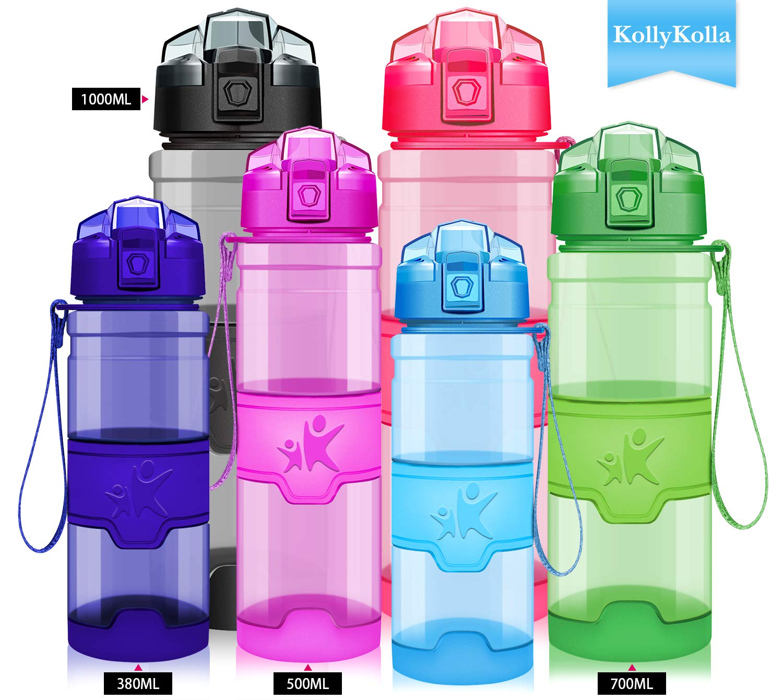 Grsta Sport Plastic Water Bottle 1L//17Oz//400Ml Bpa Free  Eco-Friendly Tritan Co