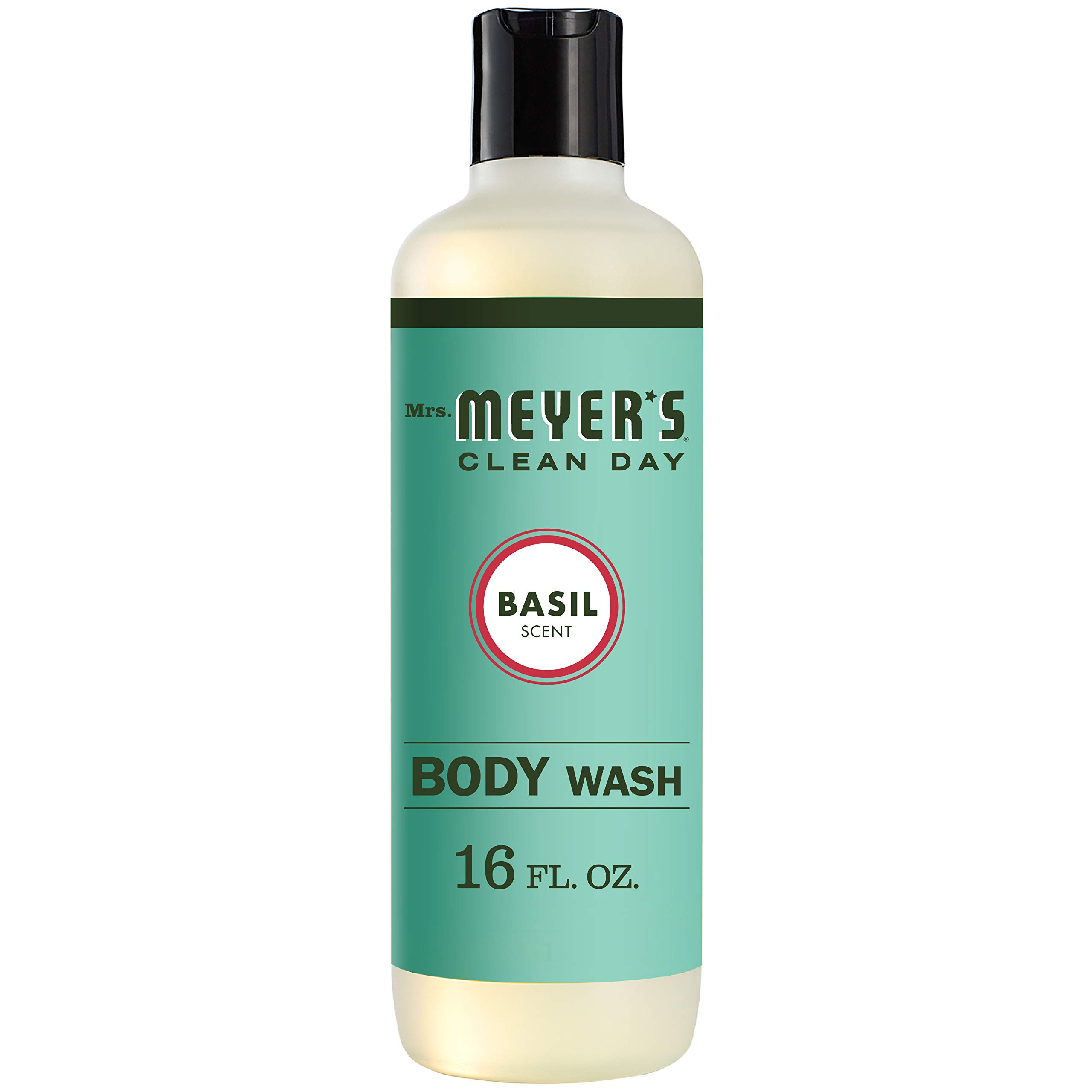 Mrs. Meyer's Clean Day Moisturizing Body Wash, Cruelty Free and Biodegradable Formula, Basil Scent, 16 oz