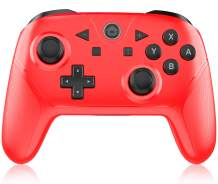 Wireless Switch Pro Controller, Y Team Switch Controller Compatible with Switch/Switch Lite, Switch Remote Joystick with Turbo, NFC and Wake-up Function (red)