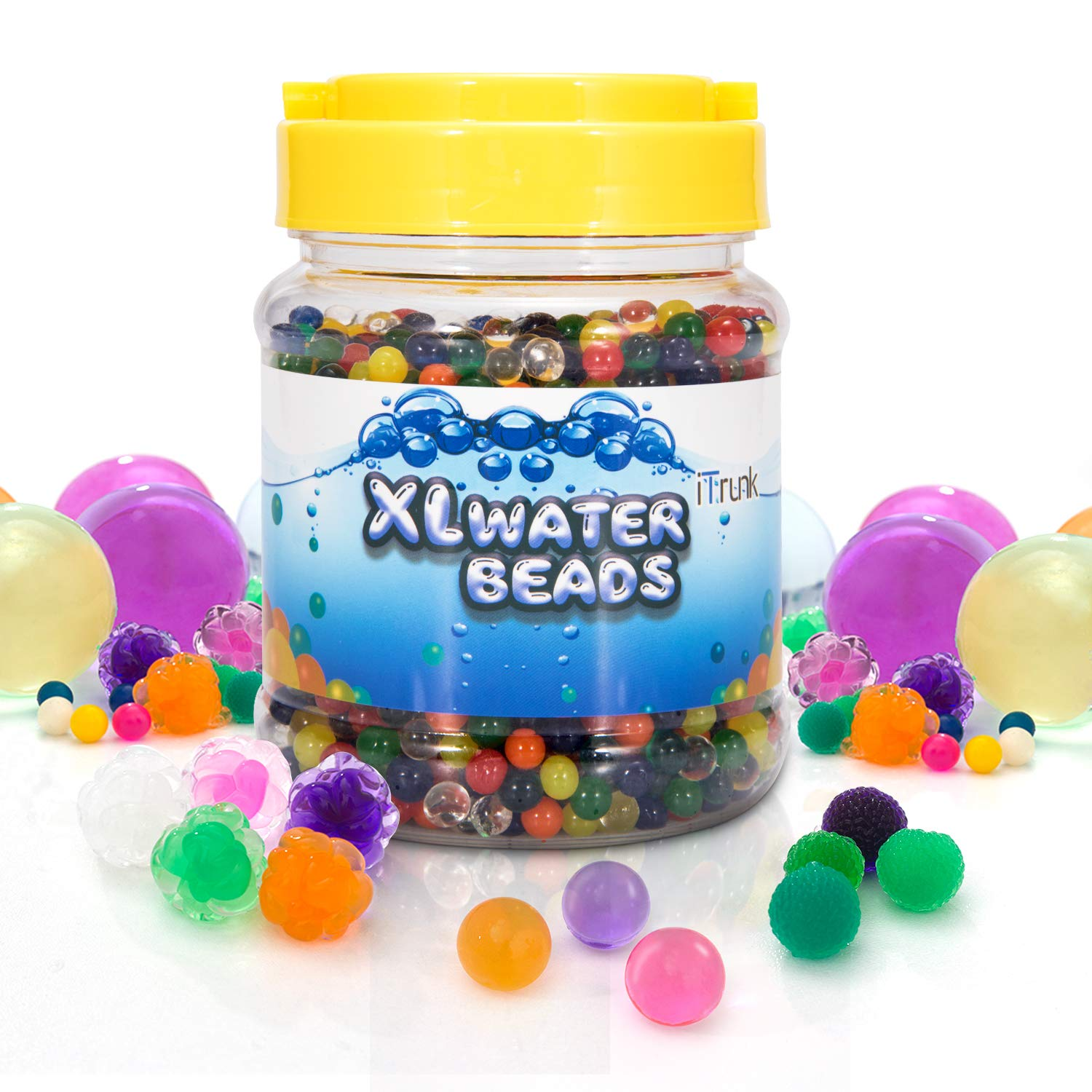 iTrunk Large Water Beads, Jelly Beads Growing Water Gel Balls Crystal Water Beads Mix for Spa Refill, Vases, Plant, Wedding and Home Decoration