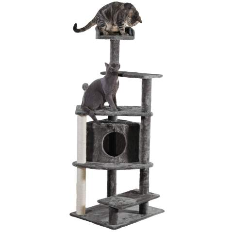 Furhaven Pet Cat Tree Tiger Tough Cat Tree House Condo Perch Entertainment Playground Furniture For Cats Kittens Available In Multiple Colors Styles