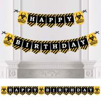 Big Dot of Happiness Happy Quarantine Birthday - Social Distancing Birthday Party Bunting Banner - Birthday Party Decorations - Happy Birthday