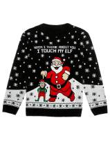 I Touch My Elf Ugly Christmas Sweater Funny Men Women Xmas Sweater