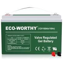 ECO-Worthy 12V 100Ah Rechargeable Sealed Lead Acid Battery for Soalr Panel 12 Volt Charging System in Home Car Boat Caravan