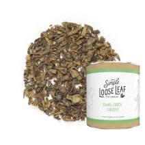 Simple Loose Leaf - Earl Grey Green Tea - Premium Loose Leaf Green Tea (4 oz) - High Caffeine - Subtle Sweetness - USA Hand Packaged - 60 Cups