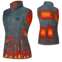 Women's Heated Vest, Washable USB Charging Heated Clothing (Battery Not Included)