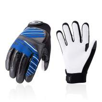 Vgo Goat Leather Work Gloves, Mechanic Gloves, Cut Resistance ANSI A3, Touchscreen Compatible (Size L, Blue, GA9699HY)
