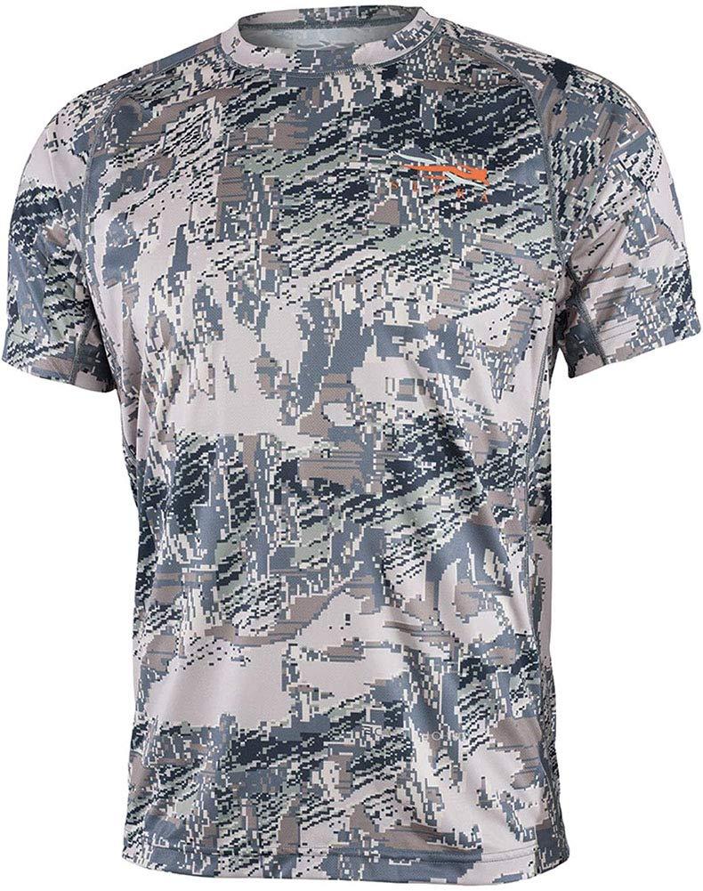 SITKA Men's Camo Hunting Core Lightweight Crew Short Sleeve Shirt