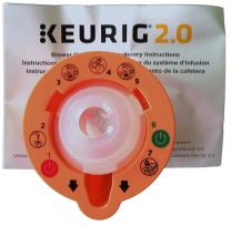 Keurig B01MXFTW88 2.0 Needle Cleaning Tool, kkk, Orange