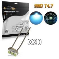 Partsam 20PCS 4.7mm Ice Blue Instrument Panel Gauge Cluster Speedometer Lamps Mini Bulbs Indicator