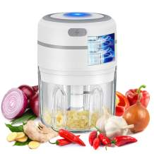 Electric Food Processor, Mini Garlic Press, Portable Ginger Chopper, Rechargeable Meat Blender, Kitchen Gadget 2021 for Women (250 ML + Plastic Cup)