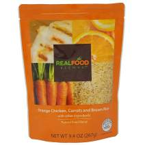 Real Food Blends Orange Chicken, Carrots & Brown Rice Pureed Blended Meal for Feeding Tubes, 9.4 oz Pouch (Pack of 12 Pouches)