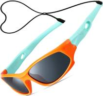 ATTCL Kids Hot TR90 Polarized Sports Sunglasses For Boys Girls Child Age 3-10